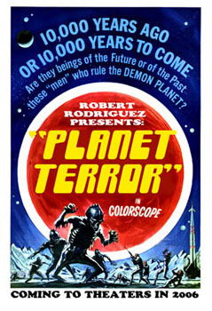 ¿Póster promocional de Planet Terror?