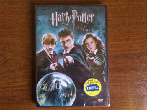 Una foto del DVD de Harry Potter que se sortea