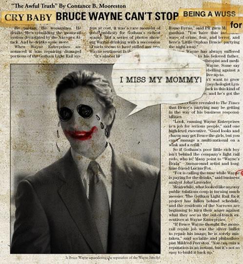 Bruce Wayne llorando