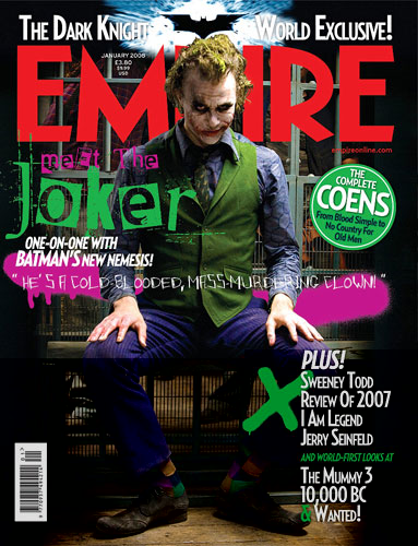 El Joker que veremos en la revista Empire