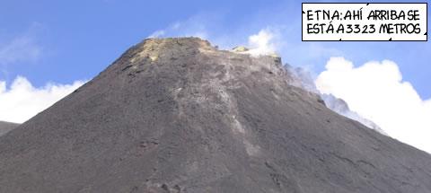 La cumbre del Etna