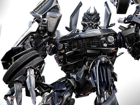 Diseño CGI de Barricada para Transformers