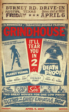 Otro póster modo Exploitation para Grindhouse!