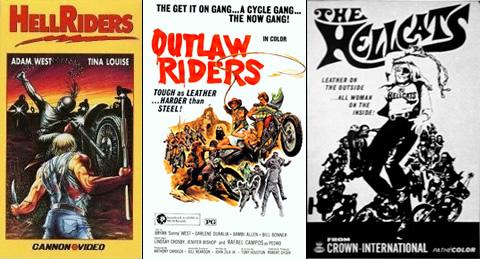 Hellriders, Outlaw Riders y The Hellcats (auténticas caspas de la serie Z en motocicleta)