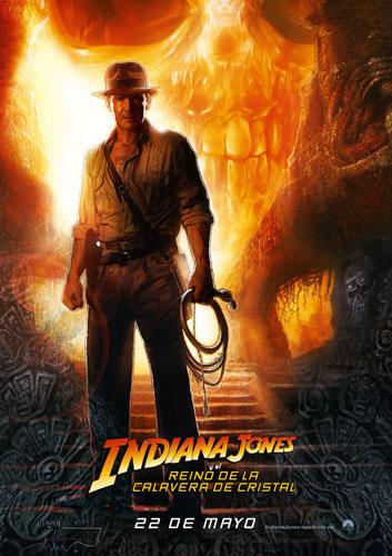 Cartel español para Indiana Jones y el Reino de la Calavera de Cristal