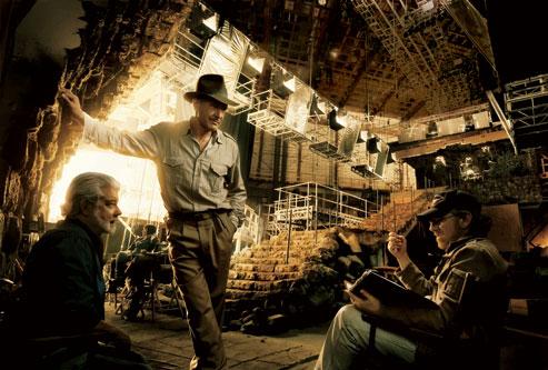 El club de las viejas glorias: George Lucas, Harrison Ford y Steven Spielberg