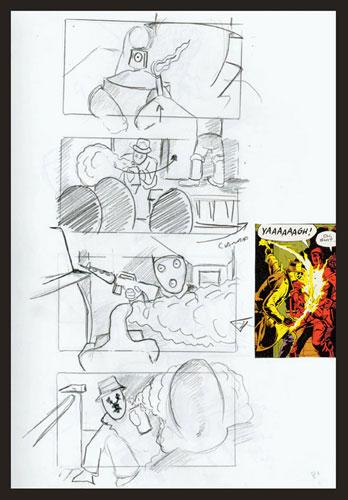 Primer detalle del story board de Watchmen