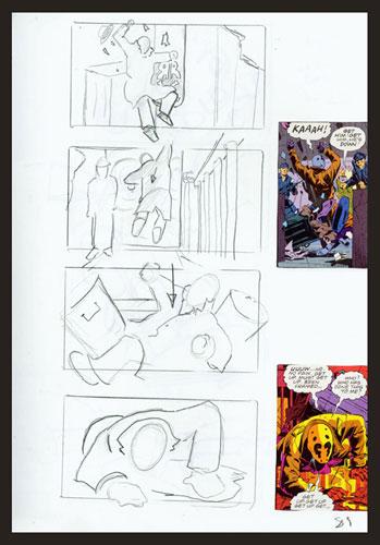 Segundo detalle del story board de Watchmen
