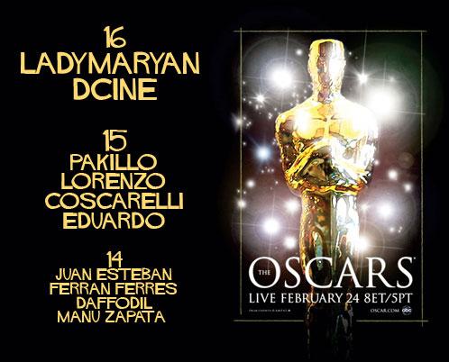 Lista de ganadores de los premios de la Quiniela de los Oscar 2008