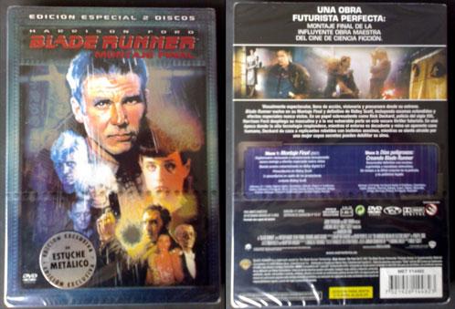 DVD de la Edición Especial 2 Discos de Blade Runner Montaje Final