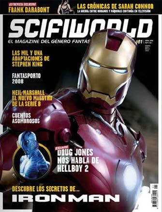 Portada del primer número de SciFiWorld