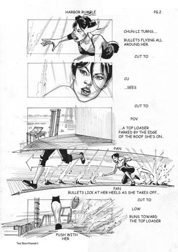 Storyboard de Street Fighter: The Lengend of Chun-Li