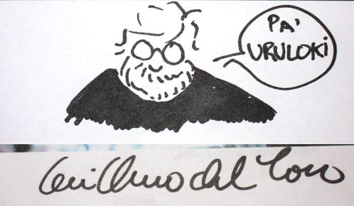 Autógrafo de Guillermo del Toro para Uruloki