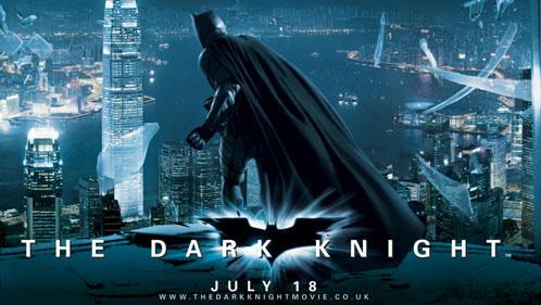 Detalle del nuevo banner publicitario de The Dark Knight / El caballero oscuro