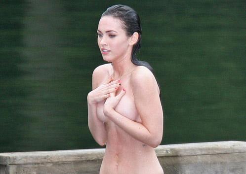 Megan Fox toda púdica ella