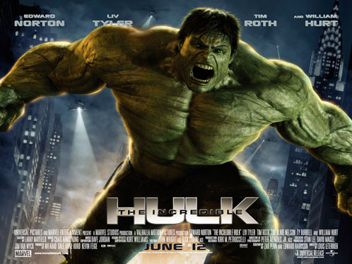 Nuevo póster rectanguar de The Incredible Hulk