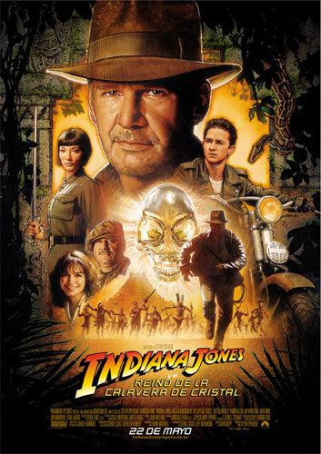Póster de Indiana Jones y el Reino de la Calavera de Cristal