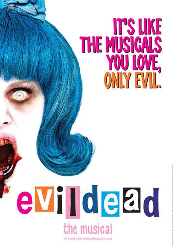 Póster del musical Evil Dead...