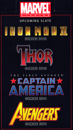 Iron Man II, Thor, Captain America y The Avengers