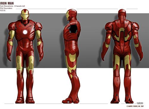 Modelo final de Iron Man creado por Phil Saunders