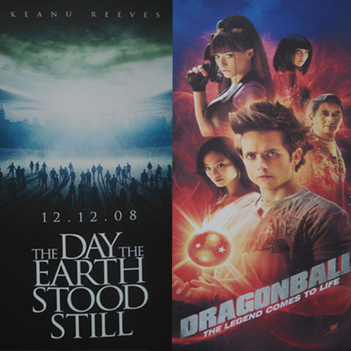 Pósters de The Day the Earth Stood Still y Dragonball