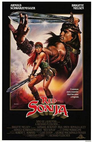 Cartel original de Red Sonja / El caballero rojo