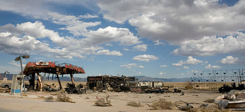Imagen del set de rodaje de Terminator Salvation: The Future Begins