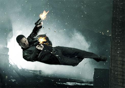Max Payne en uno de sus momentos bullet time
