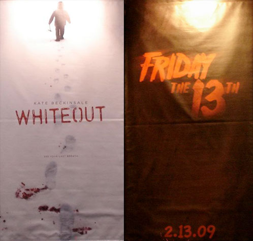 Banners de Whiteout y Friday the 13th