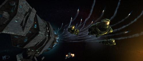 Arte conceptual de Halo: Fall of Reach creado por Kasra Farahani
