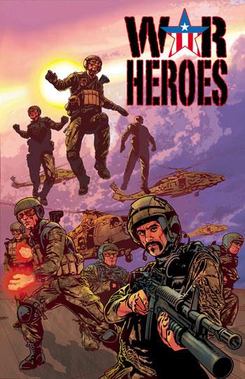 Portada del primer número de War Heroes