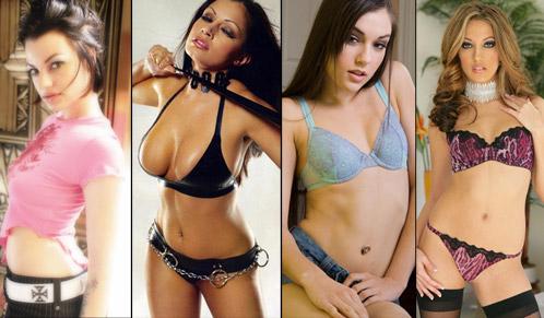 Belladonna, Aria Giovanni, Jenna Haze y Sasha Grey