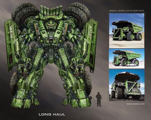 Posible aspecto de Long Haul en Transformers: Revenge of the Fallen