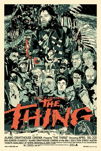 Póster de The Thing del Alamo Drafthouse
