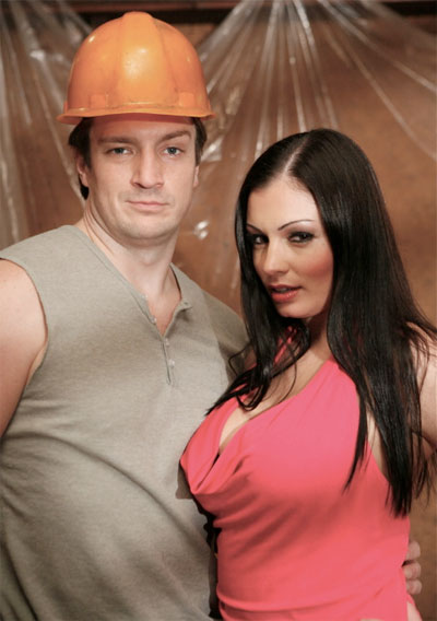 Nailing your wife (Nathan Fillion y Aria Giovanni)