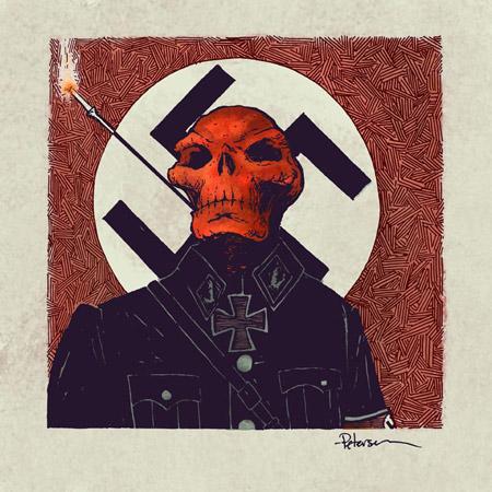 Cráneo Rojo por el artista David Petersen
