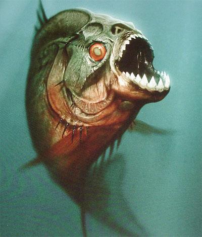 Arte Conceptual presentado por la Weinstein Company para Piranha 3D