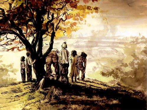 Uno de los grandes dibujos de Greg Ruth para Freaks of the Heartland