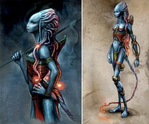 Diseños Na'vi de Jonay Bacallado para Avatar de James Cameron
