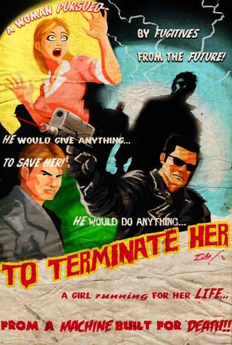 Cartel molón de To Terminate Her... Terminator