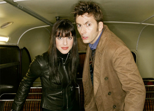 Lady Christina de Souza (Michelle Ryan) y el Doctor (David Tennant)