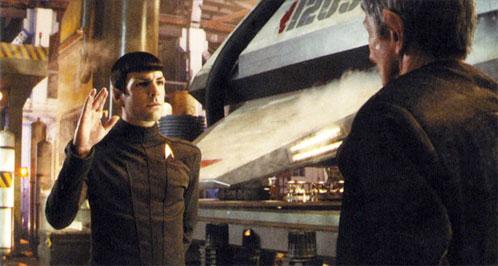 Spock saludando