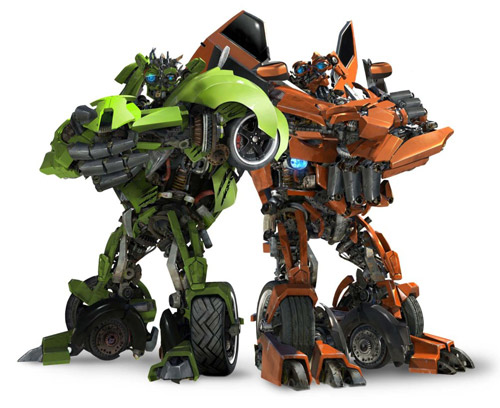 Skids y Mudflap  de Transformers: Revenge of the Fallen