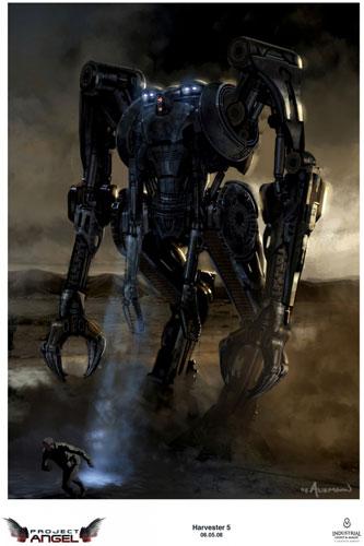 Arte conceptual de Terminator Salvation. Harvester