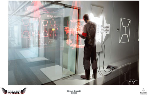 Arte conceptual de Terminator Salvation. Interior de SkyNet