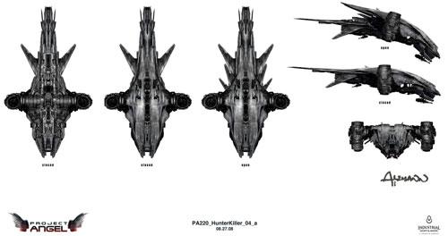 Arte conceptual de Terminator Salvation. Hunterkiller