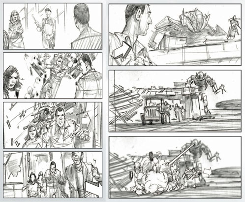 Storyboard de Terminator Salvation