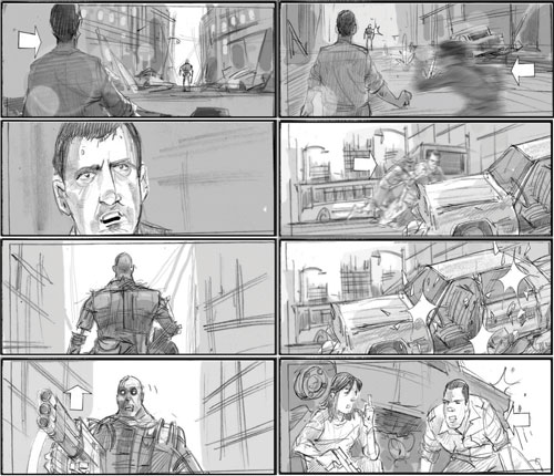 Más storyboards de Terminator Salvation
