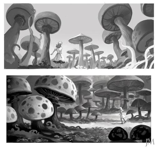 Arte conceptual de Alice in Wonderland