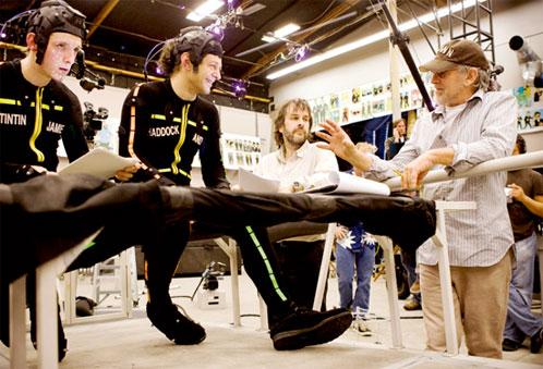 Jackson y Spielberg indican el truco del almendruco a Andy Serkis y Jamie Bell